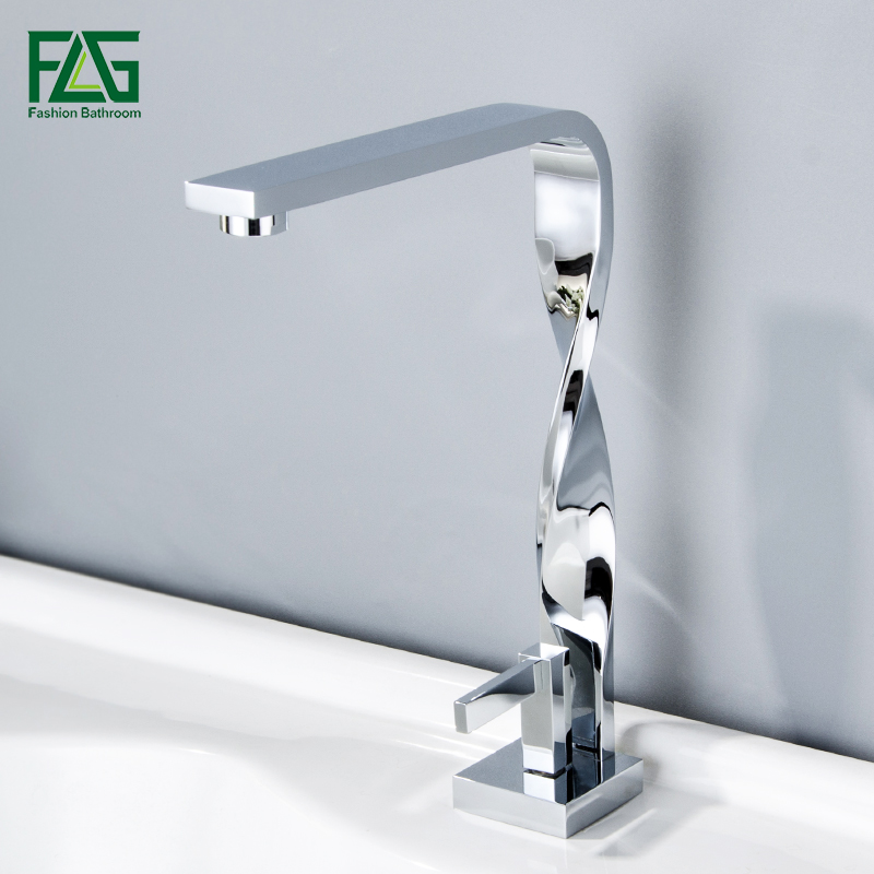Basin Faucet Deck Mount Chrome Bathroom Faucet Vanity Vessel Sinks Mixer Tap Cold And Hot Water Tap Basin Mixer Torneira contemporary kitchen faucet hot and cold mixer water tap deck mounted rotate stainless steel basin sinks tap bathroom faucets