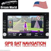 6.2 ''GPS навигации HD Дважды 2 DIN Стерео DVD CD плееры Bluetooth Радио в тире поддержка Радио, AUX SD микрофоном, Бесплатная GPS Телевизионные антенны