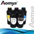 500ml*6 B C M Y W W UV Led Ink Suit For Epson R1800 R1900 R2000 R3000 4800 4880 printer  for hard material like Metal Glass..etc