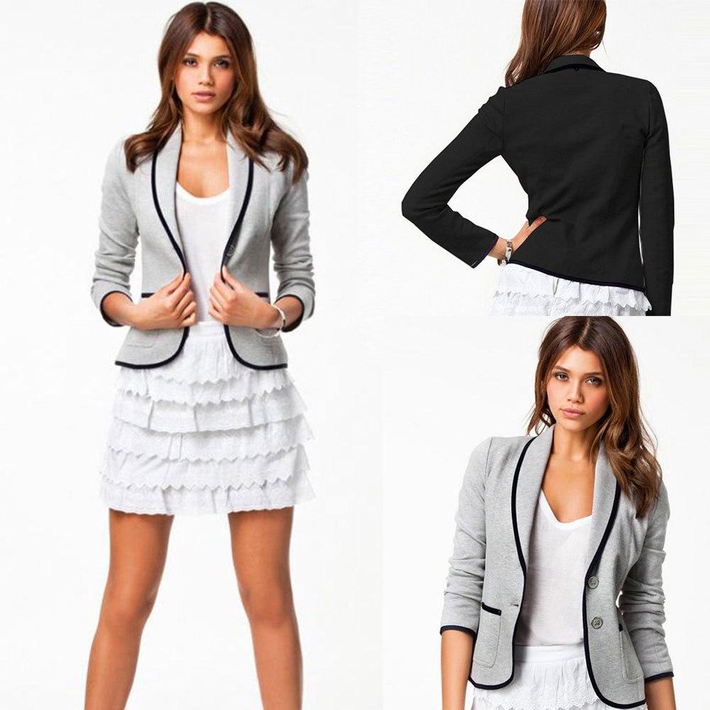6806a5d02511b Europa chaqueta informal de para mujeres de oficina completo chaquetas  nuevas mujeres ropa de moda capa del otoño más tamaño 6XL en Chaquetas  básicas de La ...