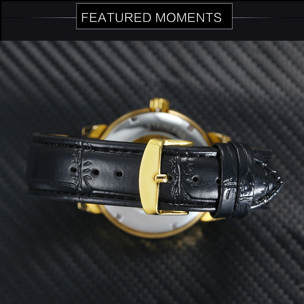 HTB1DyJ9aA5E3KVjSZFCq6zuzXXa3 2019 FORSINING 3D Logo Black Gold Men Mechanical Watch Montre Homme Man Watches Top Brand Luxury Leather WINNER Skeleton Design
