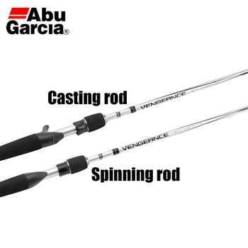 "New Arrival Original Abu Garcia VENGEANCE II Baitcasting Fishing Rod 6\'6\"" 1.98M M/ML Carbon Lure Spinning Fishing Rod 1 P"