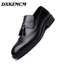 DXKZMCM 2018 Men Formal Shoes Men's Business Dress Brogue Shoes For Wedding Party Microfiber Leather Oxford Shoes