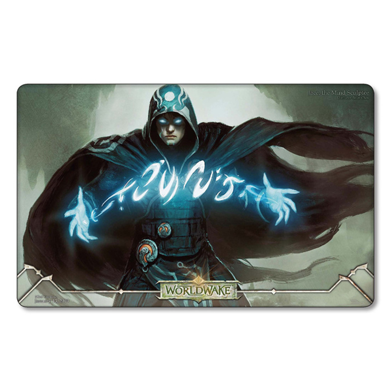 Magic Jace,the mind sculptor Playmat Board Table pad the great wave Game Lands ygo tcg ccg Cards card Playmats with storage bag