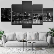 City HD Print Wall Art Canvas Painting Modern Home For Living Room Decor Picture