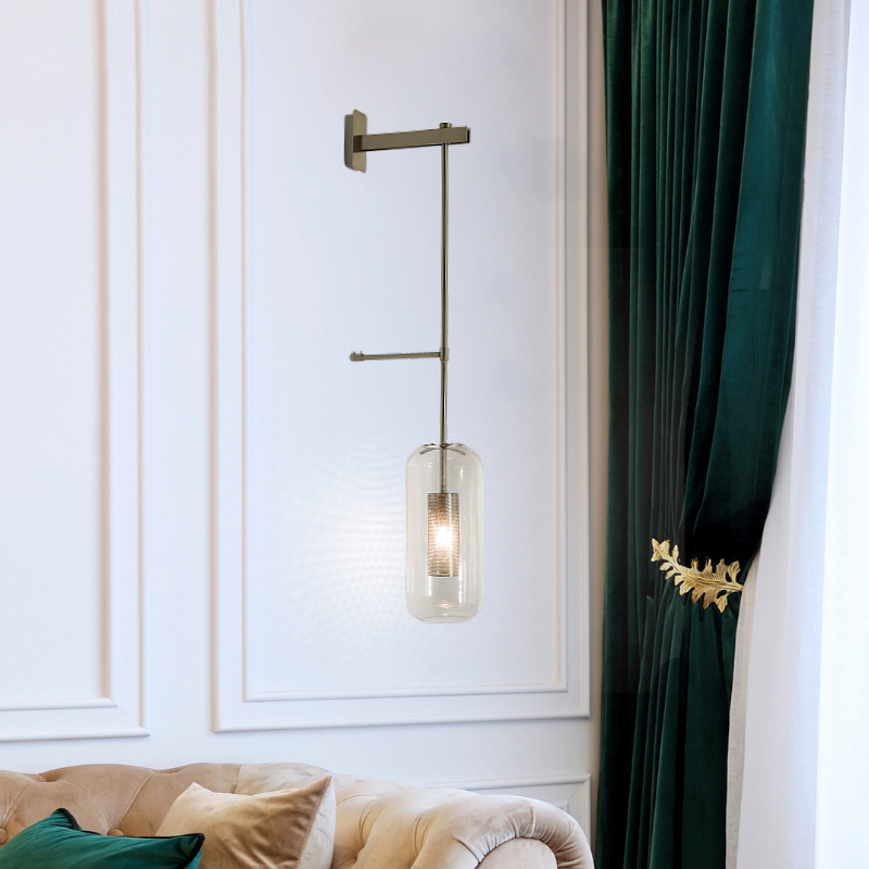 Creative Design Wall Lamp Loft Wall Sconce Bean Glass glass Ball Led Wall Light foyer bedroom bedside corridor lighting fixture in LED Indoor Wall Lamps from Lights Lighting