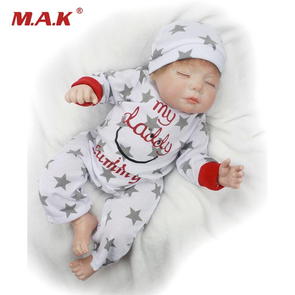 55cm Sleeping Baby Doll Handmade Reborn Lifelike Vinly Dolls for Kids Girls Birthday Gifts