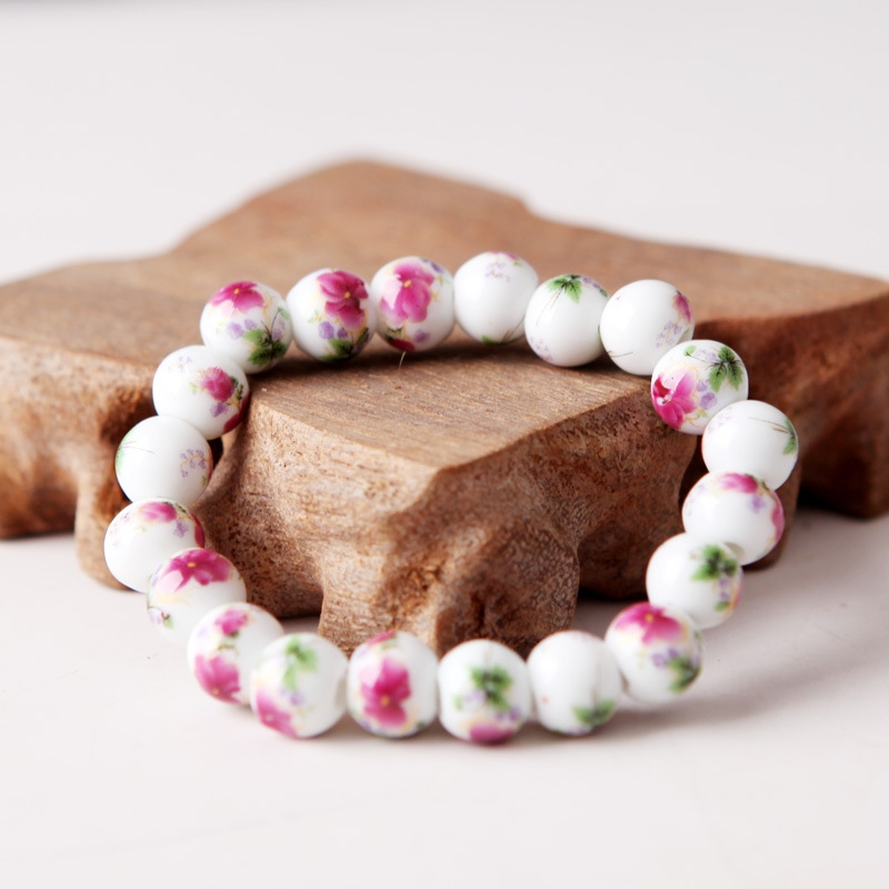 Original Porcelain Bead Fashion Personality Female Handmade Chinese Style Adjustable Ceramic Bracelet CB252