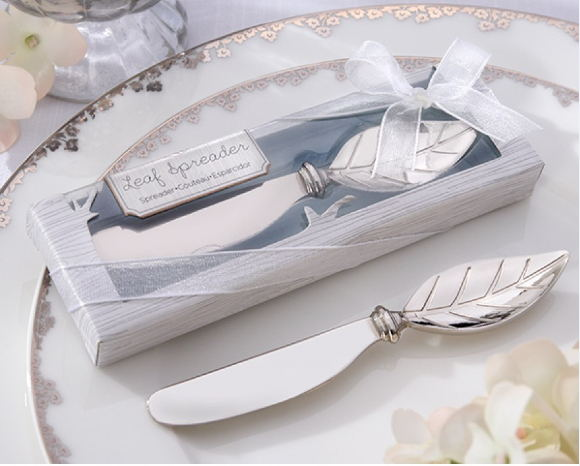 Wedding Favor Gift For Guests Stainless Steel Leaf Chrome Jam