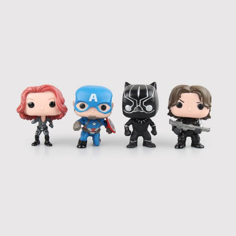 Funko POP Groot Guardians of the Galaxy Avengers Captain Civil War Black Widow Panther Winter Soldier Action Figure Toys new funko pop guardians of the galaxy tree people groot