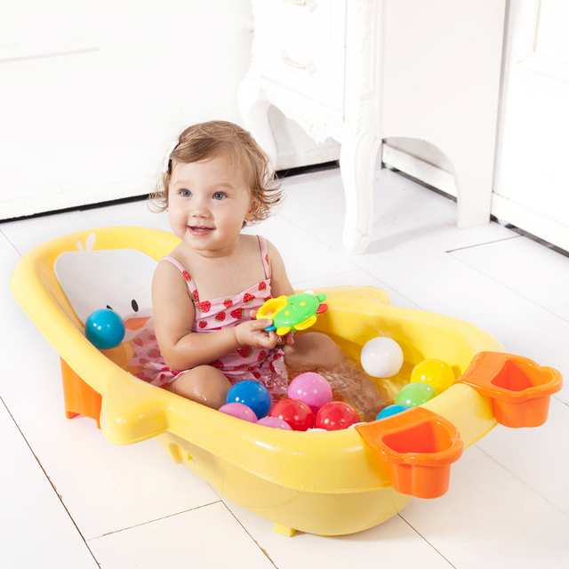Baby Toddler Folding Bathtub Thickened Penguin Body Lightweight ...