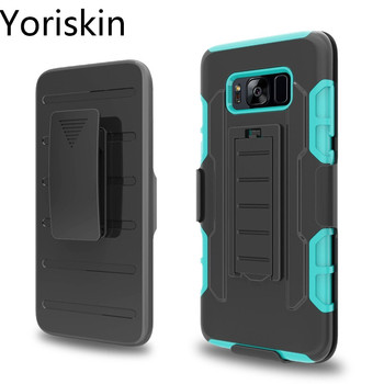 Shockproof Armor Case For Galaxy S8, Heavy Duty Belt clip Cover With Stand Combo Rugged Case Accessories For Samsung Galaxy S8 фото