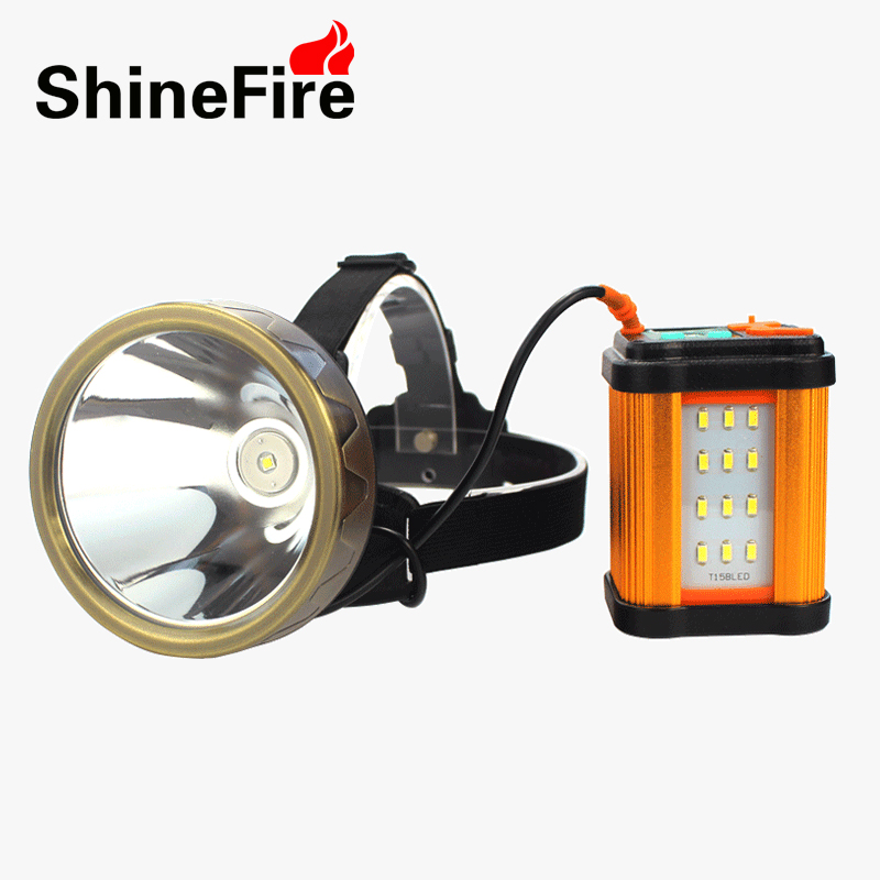 LED Headlamp CREE XML L2 headlight 3 Modes with 3 lights head torch Rechargeable used as power bank for Camping Shinefire TD9-L2
