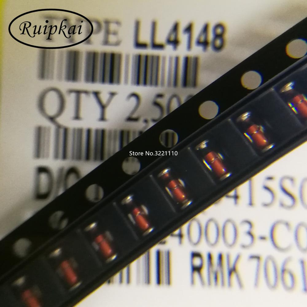 100 PCS LL4148 LL-34 1N4148 IN4148 SMD SMT Diode Switching Signal AM