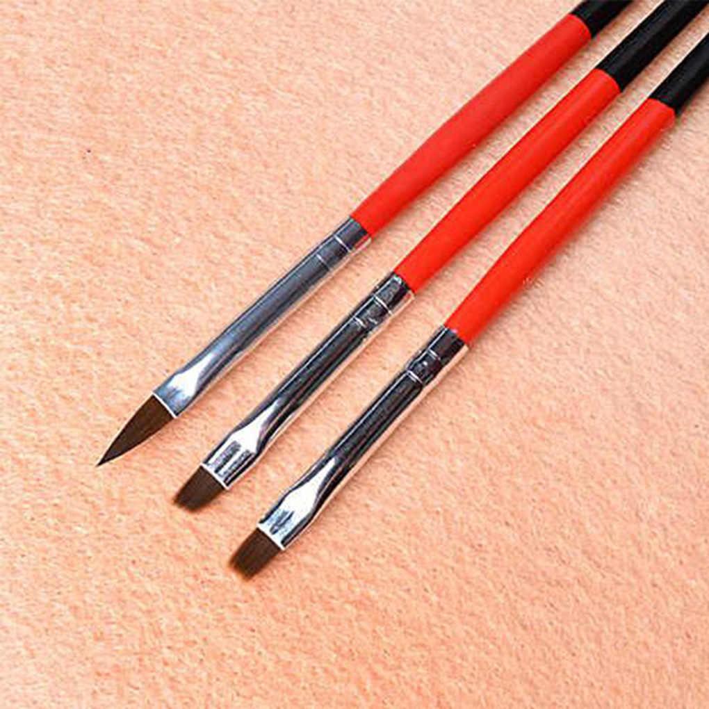 גבוהה Guality נייל אמנות מברשת שטוח אקריליק ציור עט UV ג 'ל פולני צרפתית עיצוב ציור הארכת ניילון כלים סט מכירה לוהטת