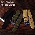 Chegam novas de Alta Qualidade 24 MM Preto Verde Khaki Canvas Pulseira Assista Bracelete Pulseira Para PAM E Grande Relógio
