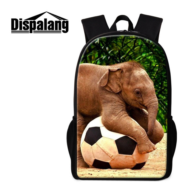 Dispalang Elephant Animal Print Backpacks for Girls Women s Kids School Bags  Teenage Casual Large Capacity Travel Shoulder Bags-in Backpacks from Luggage  ... 757280605f808
