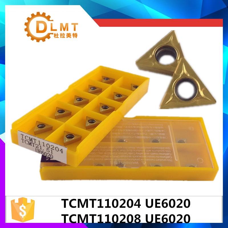 20 vnt. TCMT110204 UE6020 / TCMT110208 UE6020 Vidiniai tekinimo įrankiai Karbido intarpai Pjovimo įrankis CNC įrankiai Tekinimo įrankiai Tekinimo pjoviklis