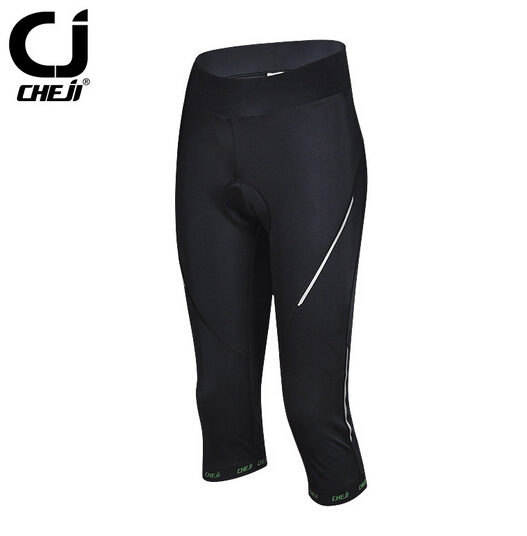 CHEJI Women Bike pants Black Cycling Gel 3D Padded Pants Tight Size Outdoor Sports Bicycle long clothing Cycling wear cheji men s outdoor sports cycling breathable mesh fabric padded underpants black xl