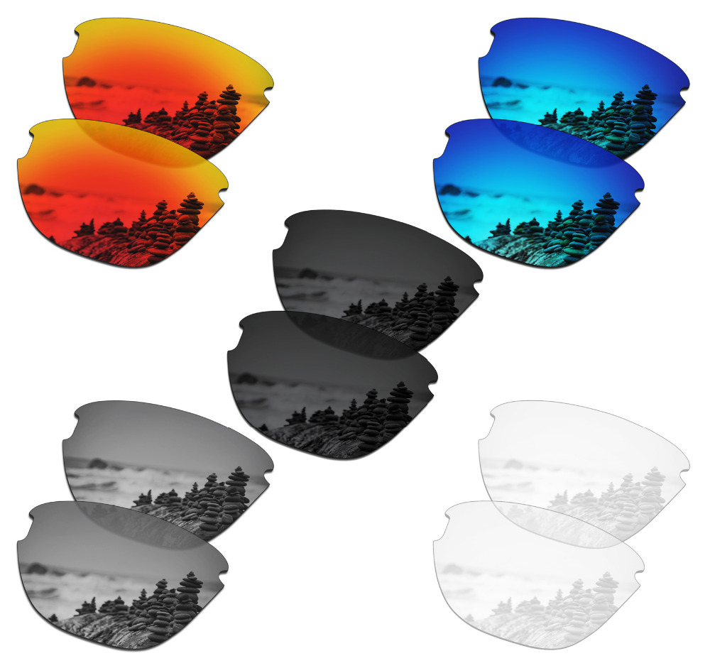 SmartVLT 5 Pairs Polarized Sunglasses Replacement Lenses For Oakley Frogskins Lite - 5 Colors
