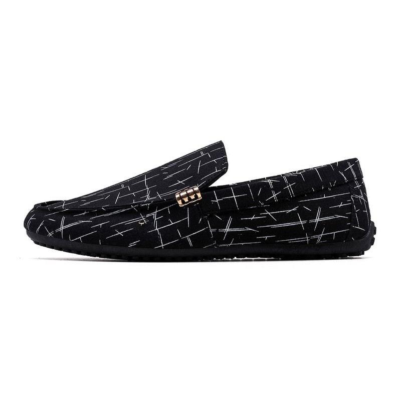 RAZAMAZA Daily Men Flats Casual Shoes Man Print Round Toe Flats Loafers Shoes Men Casual Shoes Soft Leisure Shoes Size 39-44