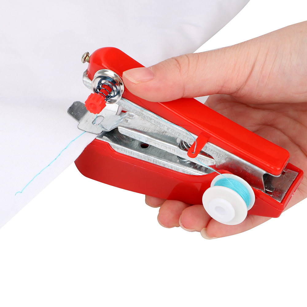 NICEYARD Creative Portable Mini Sewing Machine Simple Tools Manual Operation Home Travel Small Embroidery  Random Color