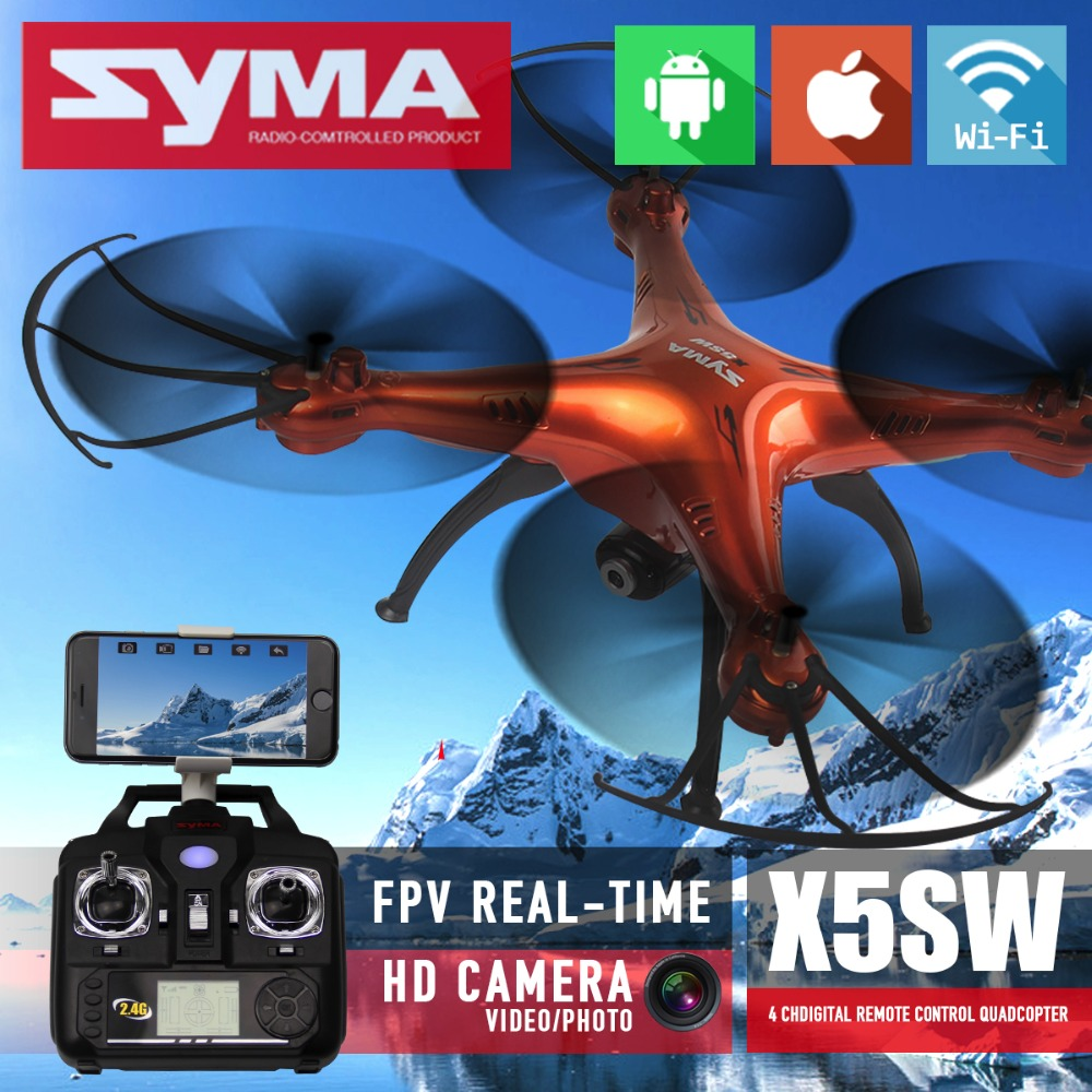 Syma X5SW & X5SW-1 FPV RC Quadcopter Drone With WIFI  Camera HD  2.4G 6-Axis Dron RTF RC Helicopter toys VS Syma X5C new arrival syma x8hg wifi fpv 3d rolling dron rc 2 4g remote control 6 axis rc drone hd camera rc quadcopter with led light