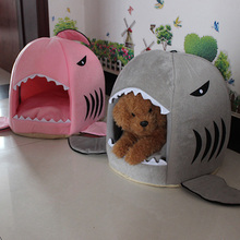 Cute Pet Products Sleeping Shark Cat House Bedding Basket Small Medium Puppy Litter Dog Bed Lounger for Animal Cama Home Kennel