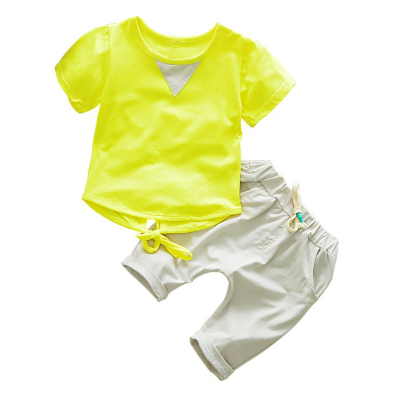 1-4Y Summer Baby Clothes Set  Fashion Short Sleeve T-shirt Tops + Pants Suit Kids Boy Girls Costume