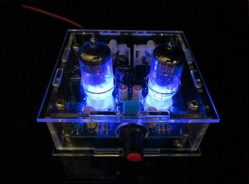 הכי חדש 6J1 צינור preamp מגבר לוח מראש מגבר אוזניות amp 6J1 שסתום preamp חיץ מרה diy ערכות
