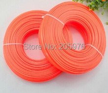 цена на HIgh quality 100 meters 2.4mm---3.0mm Trimmer line , Nylon line, brush cutter parts for Brush cutter,Grass Trimmer
