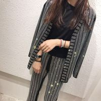 Fashion Brand Women Sequin Sets Suits 2018 High Street Hot Drilling Blazer + Long Pants Fashion Ladies Set Women 2 Piece Set