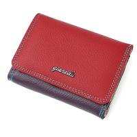 Brand new ladies real leather short zipper buckle purse head layer cattle leather Zero Wallet 3 Color women wallet