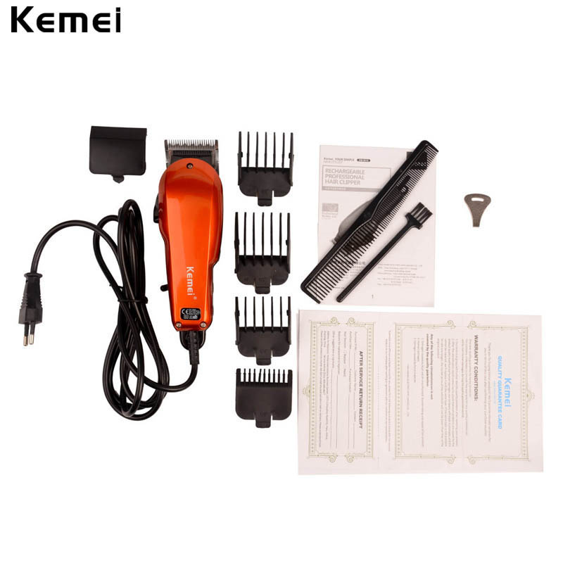 2 m Cable Retro Hair Clipper Strong Power Adjusted Electric Hair Trimmer Professional Hair Cutting Machine with 4 limit combs P0 2 aa powered hair clipper with accessories set