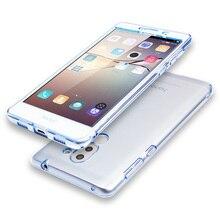 Huawei Honor 6X Пластиковый Корпус Полный Протектор Hard Cover Прозрачный Коке Капа Honor 6X Мобильный Телефон Сумки Случаи Аксессуары