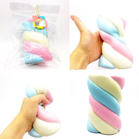 15CM Squishy Cute Cotton Candy Slow Rising Soft Squeeze Phone Straps Toys Decompression Toy Phone Decor
