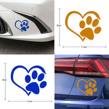 Creative Car Glass Reflective Children Bedroom Dog Cat Decal Vinyl Home Decor Wall Stickers Paw Print animal cartoon image