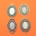 10 pieces/lot 13*18mm Inner Size Oval Zinc Alloy Cabochon Base Cameo Setting Charms Pendant Tray