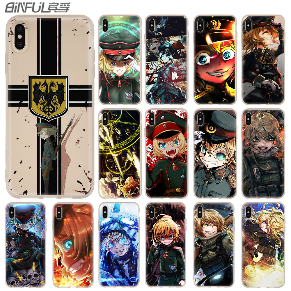 Japan Anime <font><b>youjo</b></font> <font><b>senki</b></font> Case for iphone XS Max XR X 10 Cover Phone Cases for iphone 7 7plus 6s 6 8 plus 5 4s image