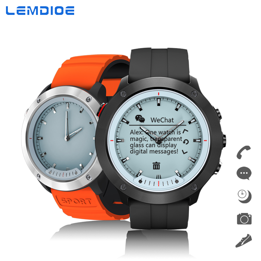 LEMDIOE Traditional Mechanical Dial Smart Watch Men Women Static Dynamic Heart Rate Monitor Professional Stopwatch Sport