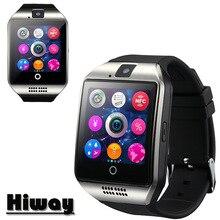 Envío libre hiway q18 pasómetro smart watch con pantalla táctil cámara tf tarjeta bluetooth smartwatch para android ios teléfono