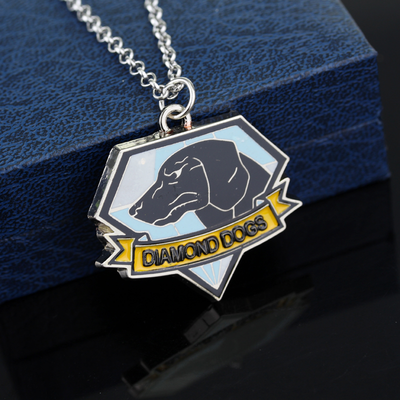 Metal Gear Solid V the Phantom Pain Dogs of War Logo Pendant necklace Metal 3D Pendant Gift Collectibles