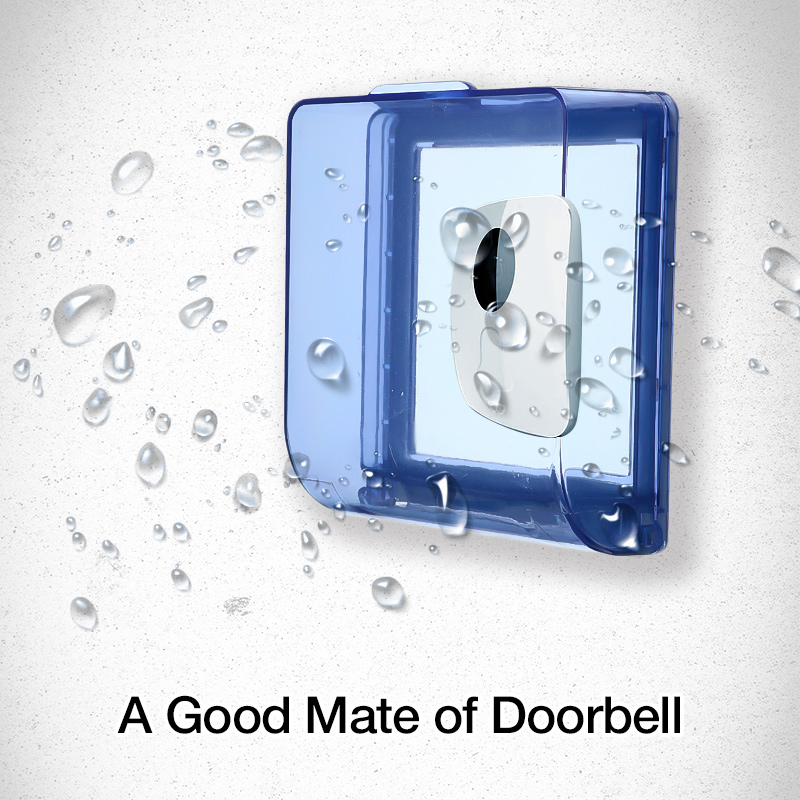 Waterproof Cover For Wireless Doorbell LED Door Bell Chime Button Transmitter Launcher Accessories Heavy Rain Protective CoverWaterproof Cover For Wireless Doorbell LED Door Bell Chime Button Transmitter Launcher Accessories Heavy Rain Protective Cover