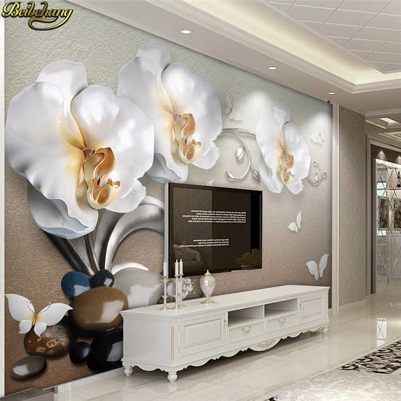 Beibehang Jewelry Flowers Wallpaper For Walls 3 D Photo Mural Wallpaper For Living Room Tv Background Papel De Parede Wall Paper Wallpapers For Living Room Wallpaper For Wallsflower Wallpaper Aliexpress