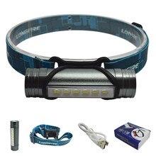 800 люмен 6 светодиодные USB аккумуляторный налобный фонарь налобный фонарик светодиодный с аккумулятором 3-режим фонарик на голову с 2200 мАч Батарея фанарик налобный акумуляторный фара светодиодная налобные фонари
