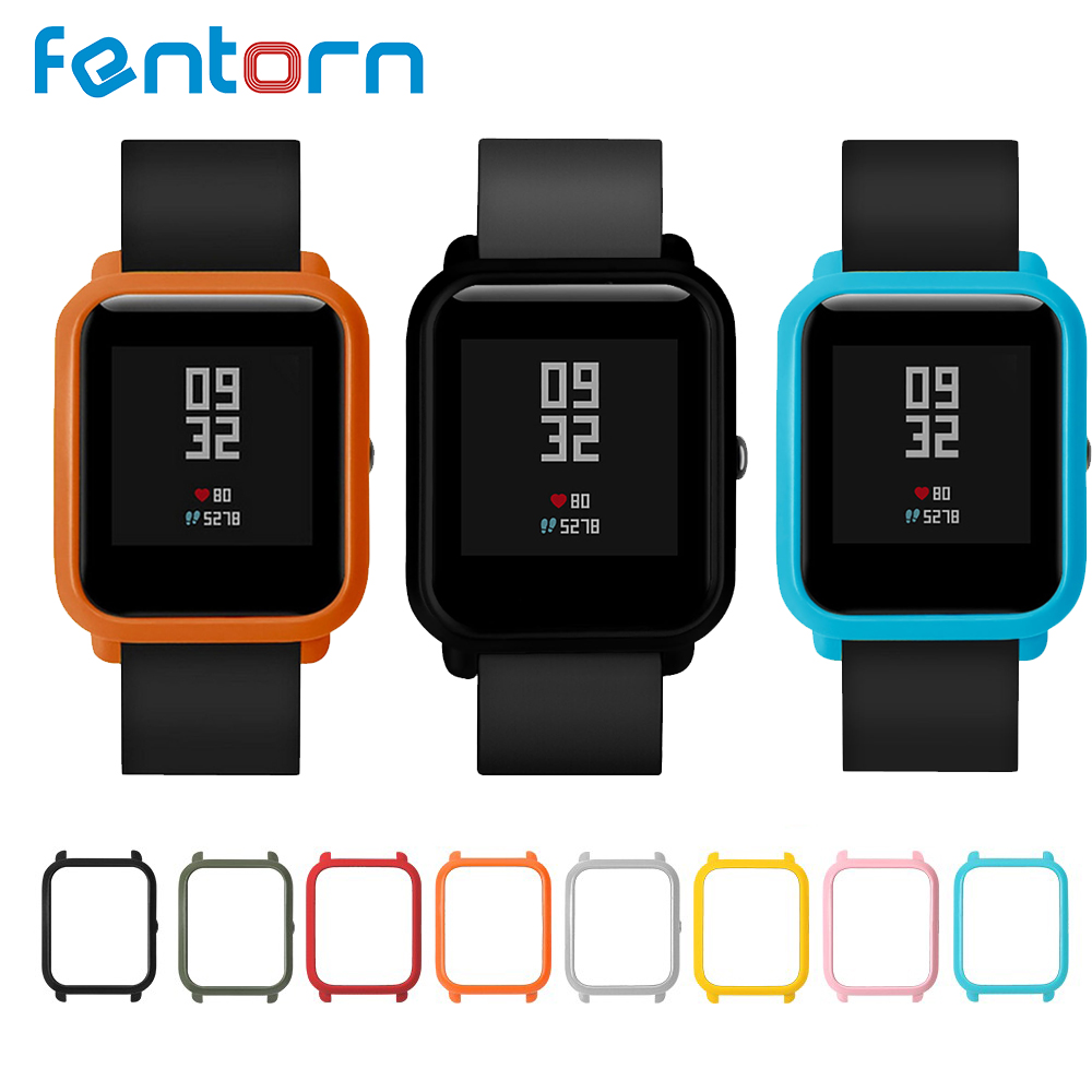 Fentorn Protect Case for Xiaomi Huami Amazfit Bip Bit Youth Watch Case Replace Cover Protective Shell for Amazfit Smart Watch sikai universal 20mm stainless steel watch straps bracelets for huami bip bit pace lite youth watch for xiaomi amazfit bit band