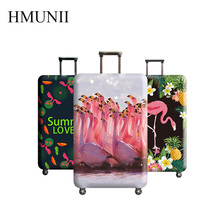 HMUNII New Flamingo Suitcase Protective Cover Multi-purpose Travel Accessories ,Travel Luggage Dust cover for 18 to 32inch