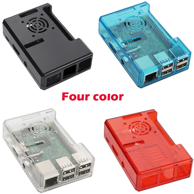 Raspberry Pi 3 Model B+ Plus ABS Case Black Transparent Blue Red ABS Plastic Box Closed Cover Shell for Raspberry Pi 3B/2