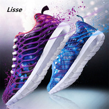 2018New Breathable Outdoor Running Shoes Sports Shoes for Men and Women sneakers Unisex Shoes Dream Color Breathable wear shoes