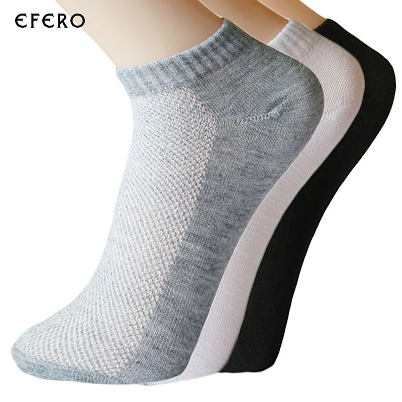 4 Pairs Mens Autumn Summer Comfortable Cotton Youthful Style Socks Slippers Short Ankle Socks Breathable Cotton Men Short Sock Underwear & Sleepwears